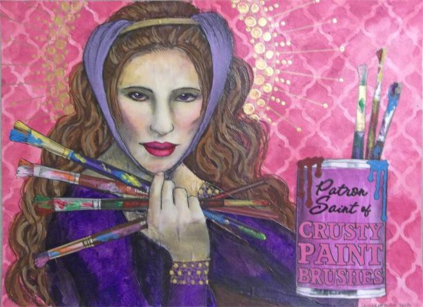 Patron Saint of Crusty Paint Brushes