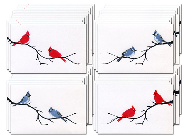 Cardinal & Blue Jay Postcards