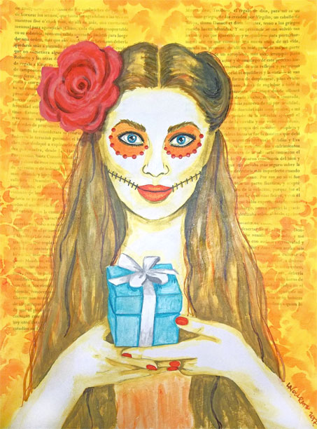 Artwork for the Ofrenda Oracle Deck